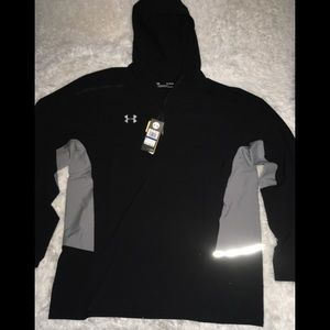 Under Armour Blk/Gray Full Zip Hoodie Men's XL